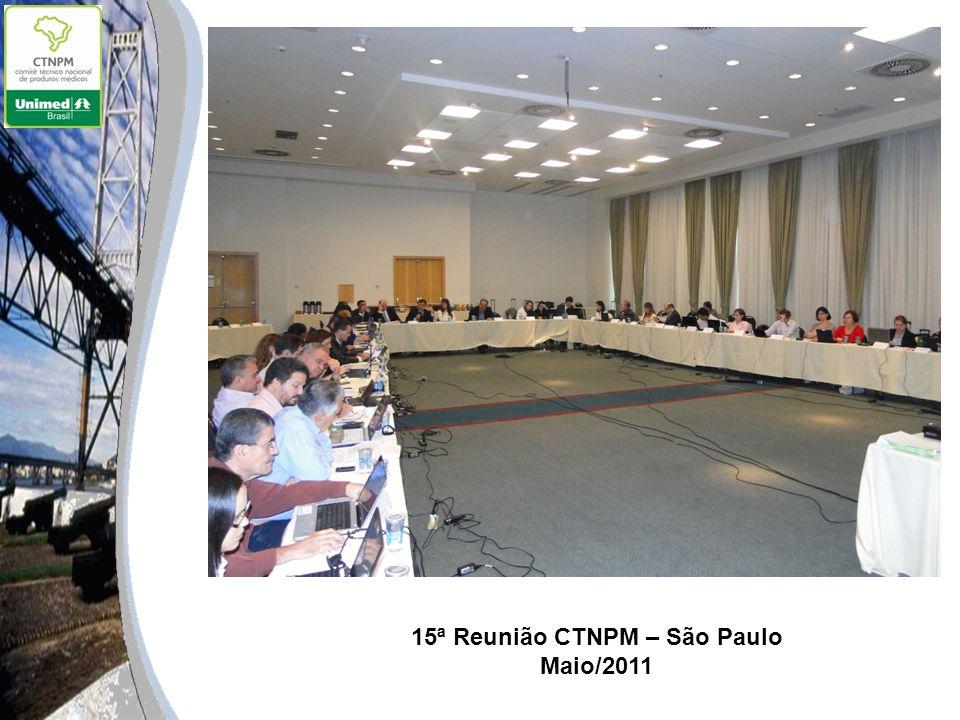 15ª Reunião CTNPM – São Paulo Maio/2011