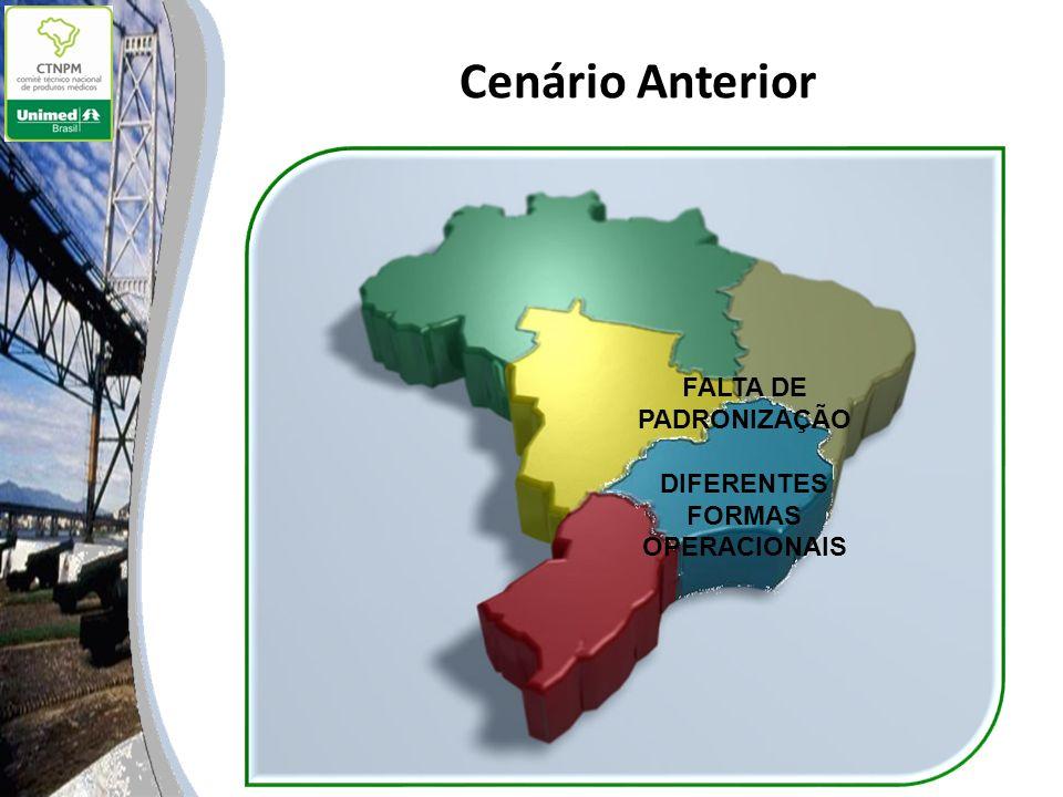 Cenário Anterior FALTA DE PADRONIZAÇÃO DIFERENTES FORMAS OPERACIONAIS