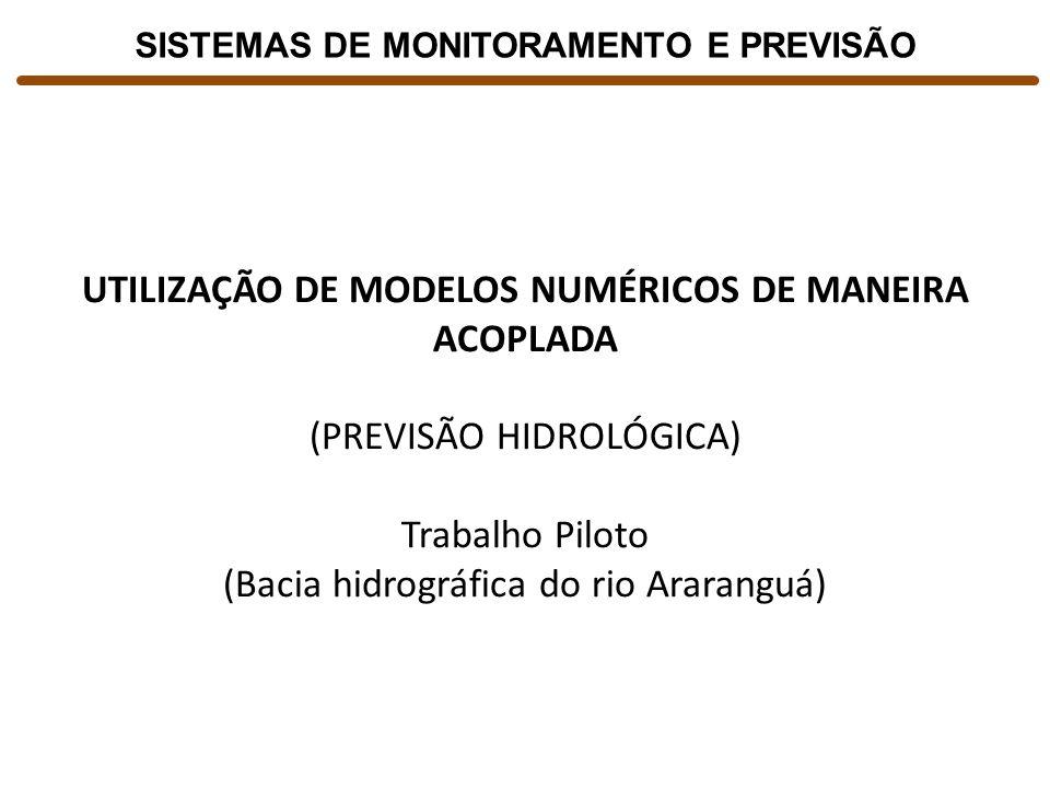 UTILIZAÇÃO DE MODELOS NUMÉRICOS DE MANEIRA ACOPLADA (PREVISÃO HIDROLÓGICA) Trabalho Piloto (Bacia hidrográfica do rio Araranguá) SISTEMAS DE MONITORAM