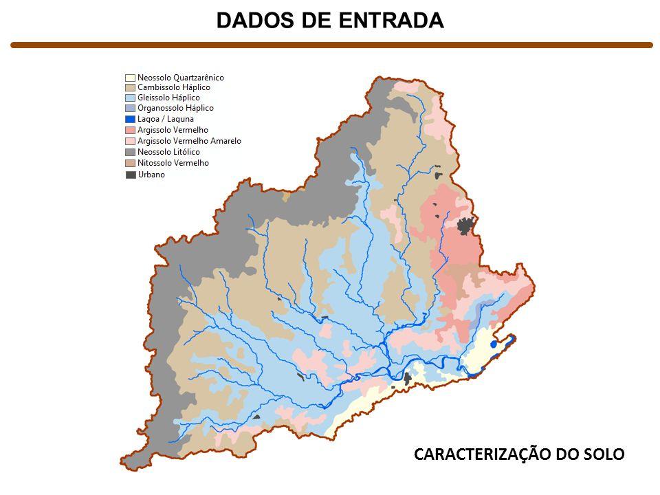 CARACTERIZAÇÃO DO SOLO DADOS DE ENTRADA