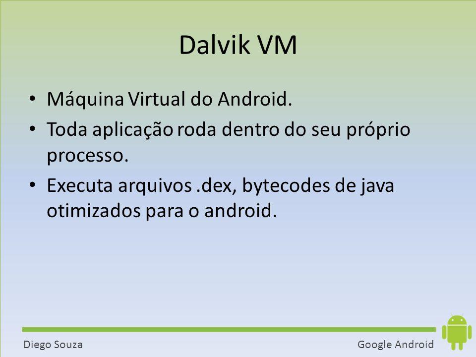 Google AndroidDiego Souza Dalvik VM Máquina Virtual do Android.
