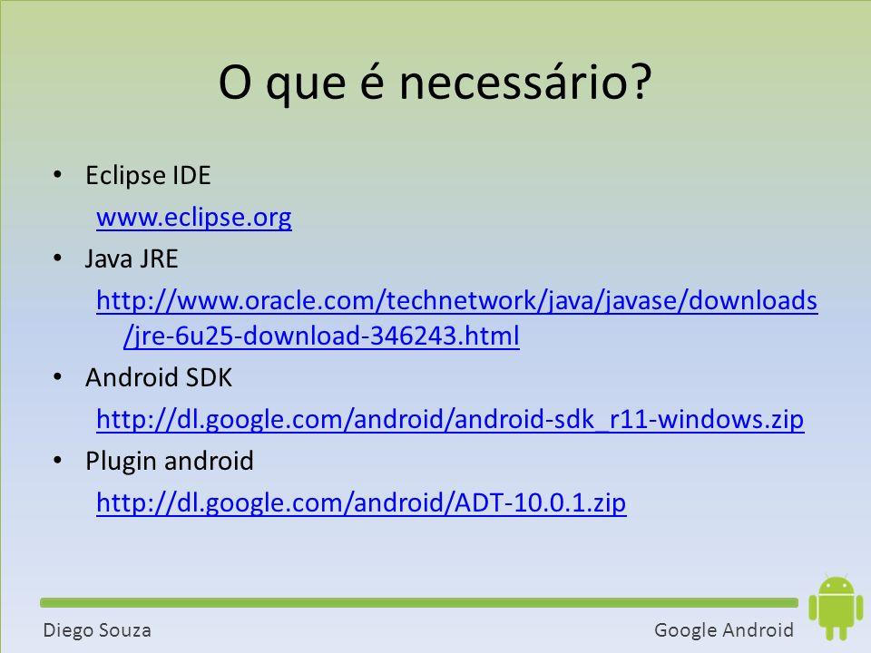 Google AndroidDiego Souza O que é necessário.