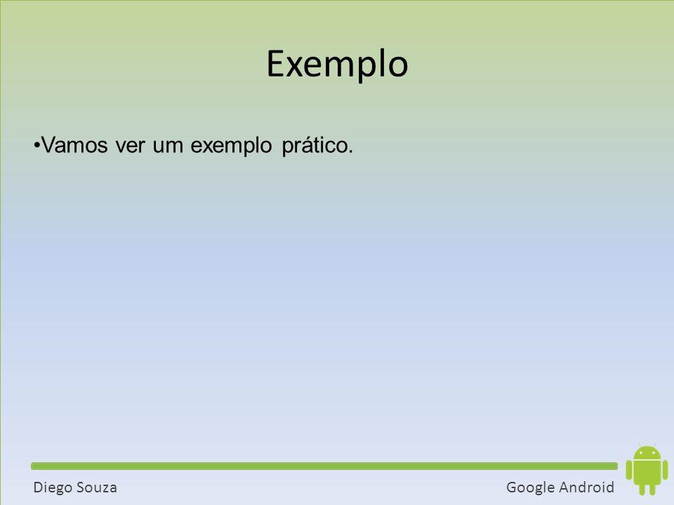 Google AndroidDiego Souza Vamos ver um exemplo prático. Exemplo