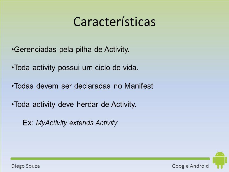 Google AndroidDiego Souza Gerenciadas pela pilha de Activity.