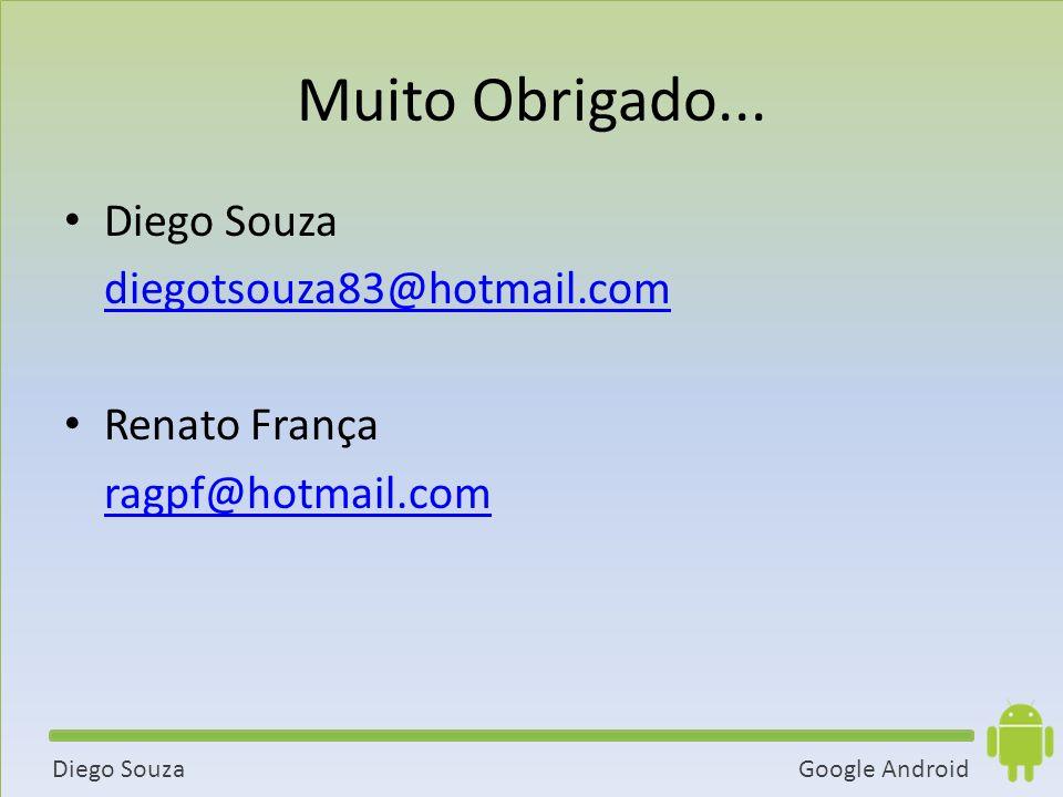 Google AndroidDiego Souza Muito Obrigado...