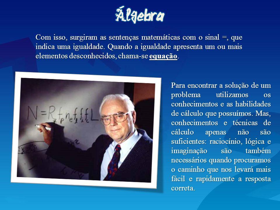 A história das equações se relaciona a vida de Diofanto, um matemático grego que viveu no séc III d.C.