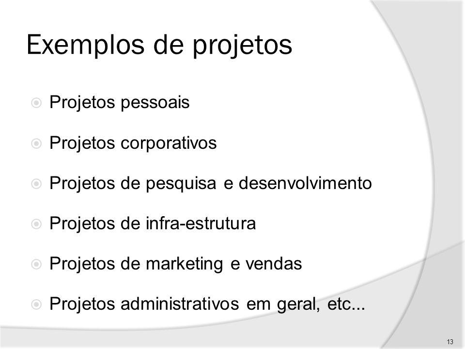 Concepção de projeto Identificação do problema Determinação das necessidades Determinação das características principais do produto Estudo de viabilidade - Técnica - Econômico/financeira / Comercial - Gerencial 14