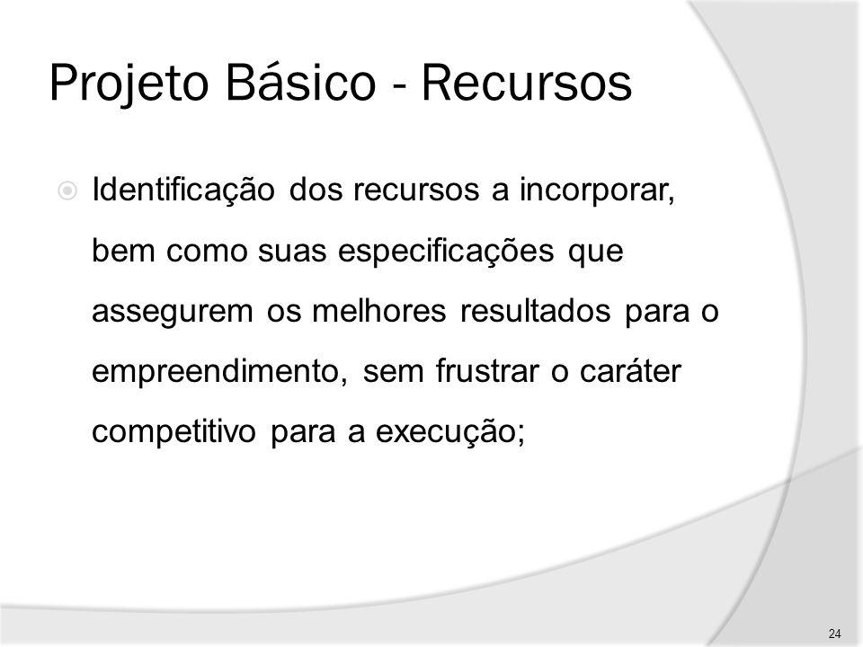 Projeto Básico - Informações Informações que possibilitem seu desenvolvimento. 25