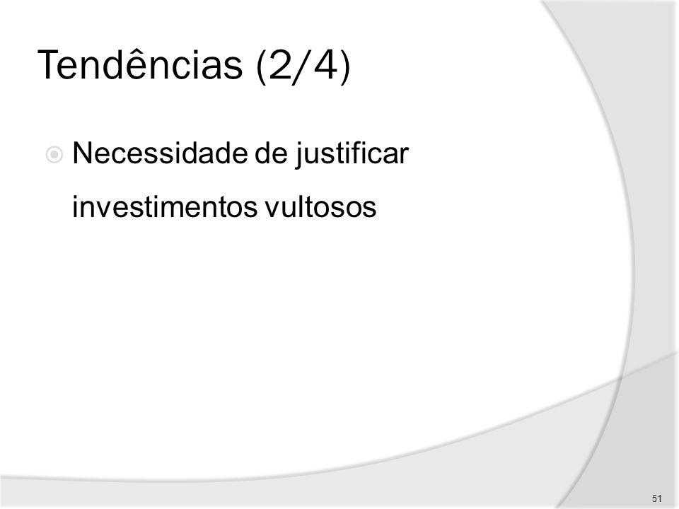 Tendências (3/4) Criação de modelos de avaliação de projetos adequados à nova economia do conhecimento 52