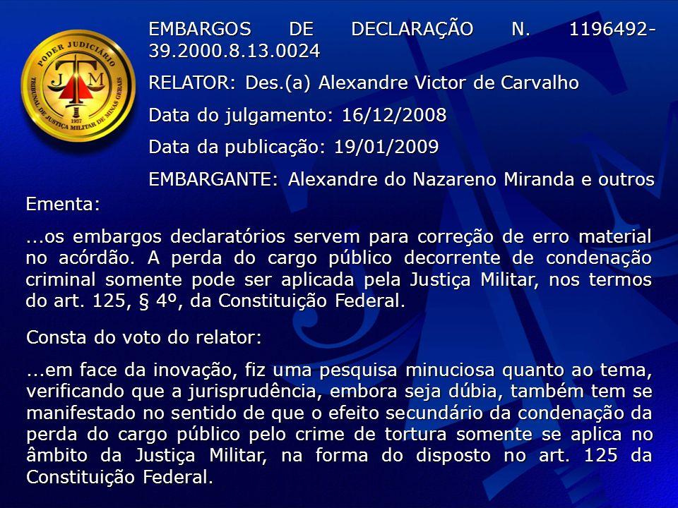 EMBARGOS DE DECLARAÇÃO N.