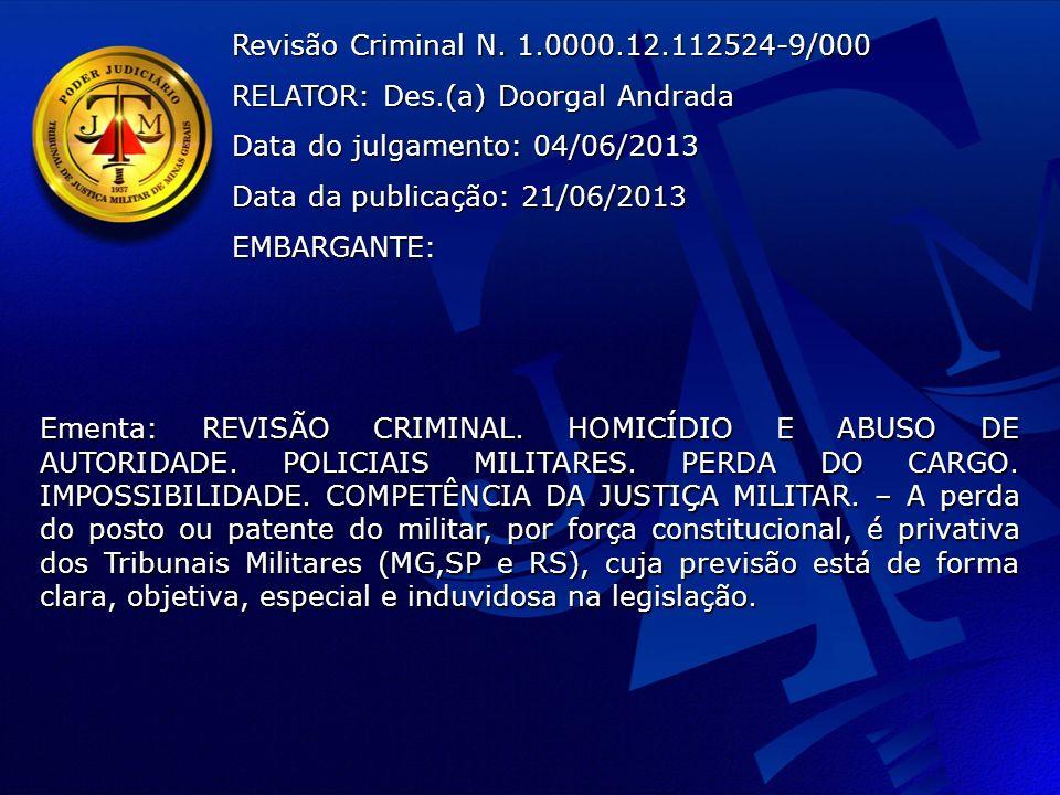 Revisão Criminal N.