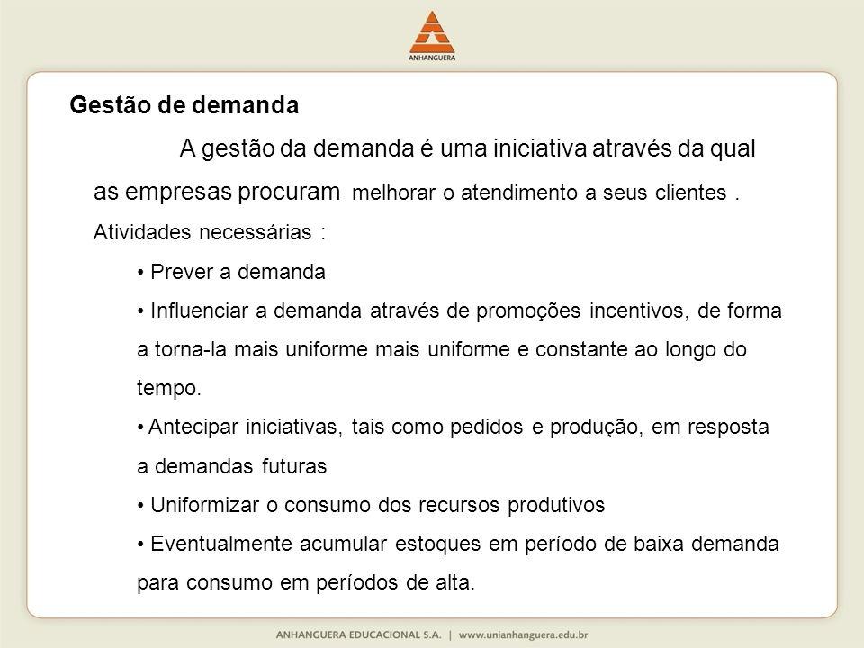 A gestão da demanda é uma iniciativa através da qual as empresas procuram melhorar o atendimento a seus clientes.