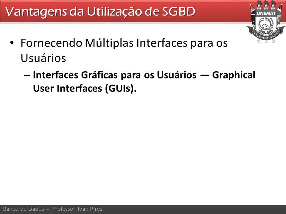 Fornecendo Múltiplas Interfaces para os Usuários – Interfaces Gráficas para os Usuários Graphical User Interfaces (GUIs). Vantagens da Utilização de S