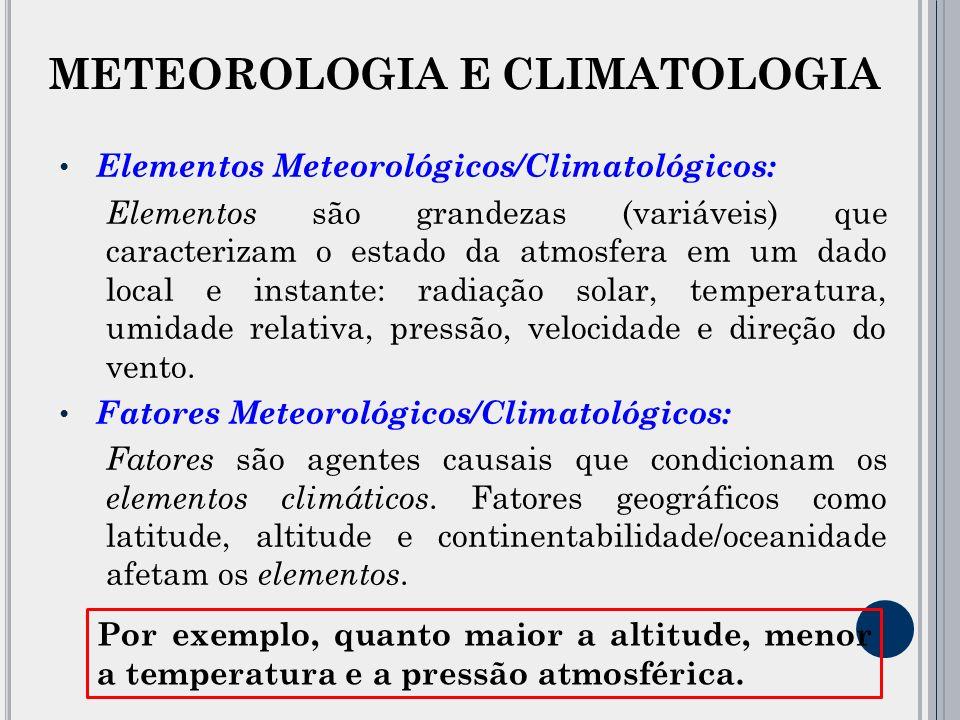 Escala Espacial dos Fenômenos Atmosféricos: Os fenômenos atmosféricos ocorrem de forma continuada, havendo influência de uma escala sobre a outra.