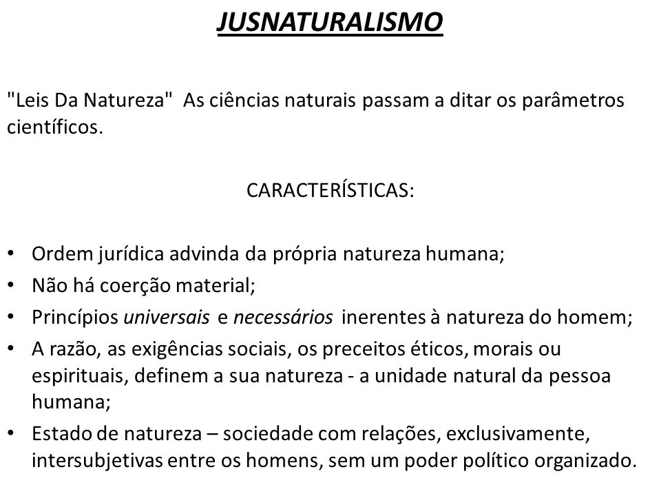 JUSNATURALISMO