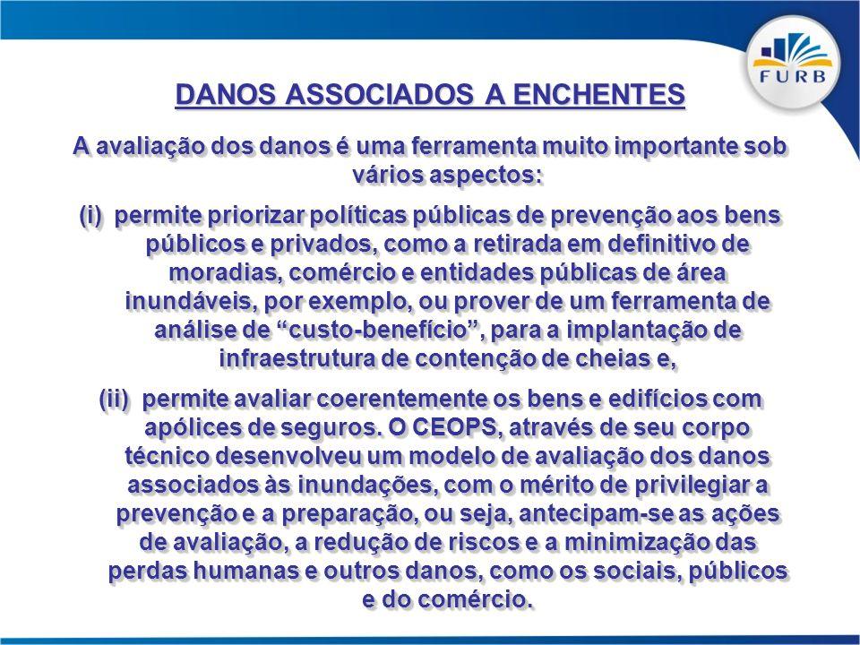 A avaliação dos danos é uma ferramenta muito importante sob vários aspectos: (i)permite priorizar políticas públicas de prevenção aos bens públicos e