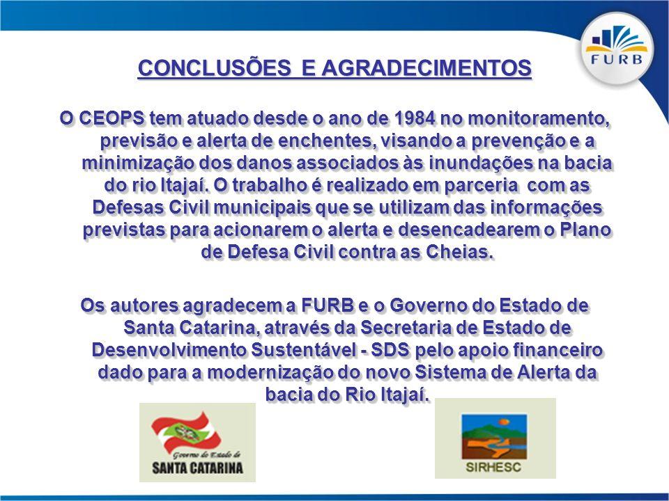 O CEOPS tem atuado desde o ano de 1984 no monitoramento, previsão e alerta de enchentes, visando a prevenção e a minimização dos danos associados às i
