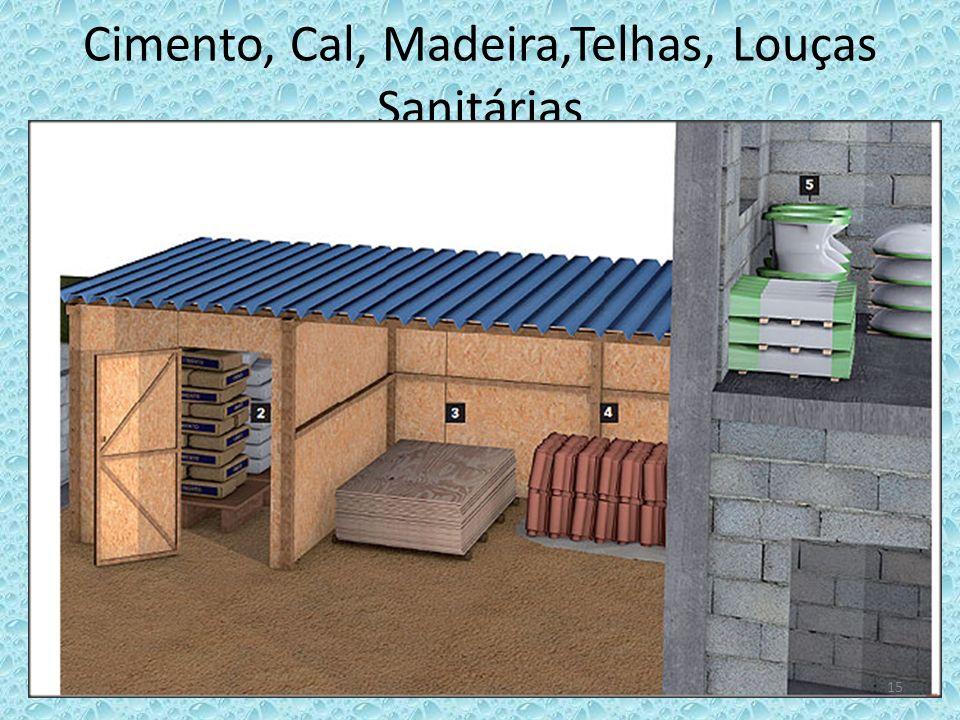Cimento, Cal, Madeira,Telhas, Louças Sanitárias 15