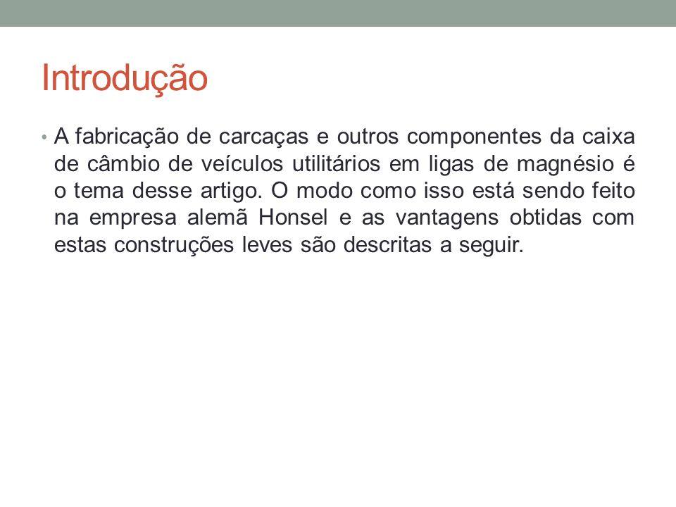 Introdução A fabricação de carcaças e outros componentes da caixa de câmbio de veículos utilitários em ligas de magnésio é o tema desse artigo. O modo