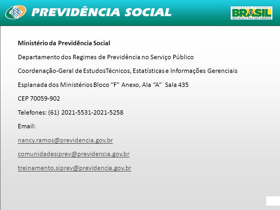41 Ministério da Previdência Social Departamento dos Regimes de Previdência no Serviço Público Coordenação-Geral de EstudosTécnicos, Estatísticas e In