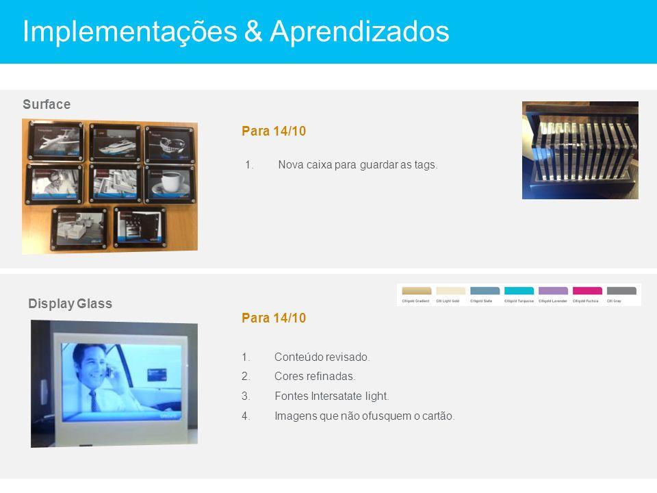 Display Glass Implementações & Aprendizados 1.Conteúdo revisado.