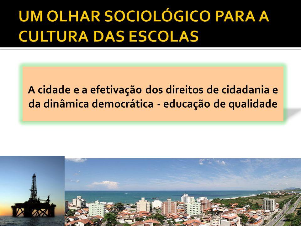 A cidade e a efetivação dos direitos de cidadania e da dinâmica democrática - educação de qualidade