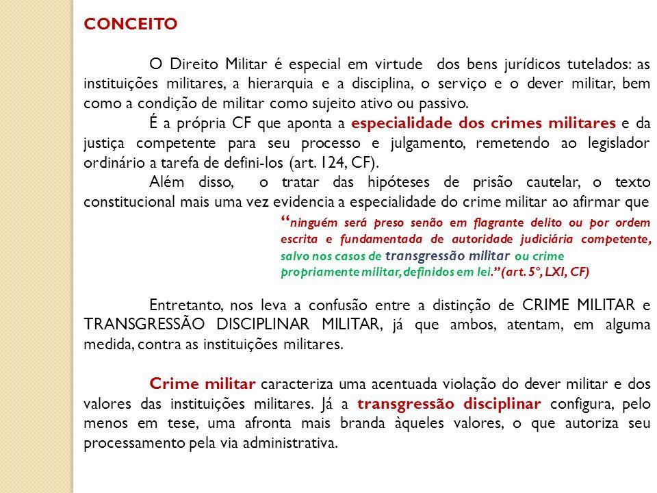 Diferentemente do sistema penal comum, o Direito Penal Militar não adota o sistema bipartite, que classifica as infrações penais em crimes e contravenções penais.