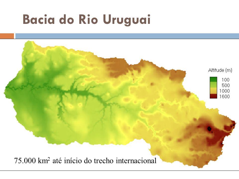 Bacia do Rio Uruguai 75.000 km 2 até início do trecho internacional