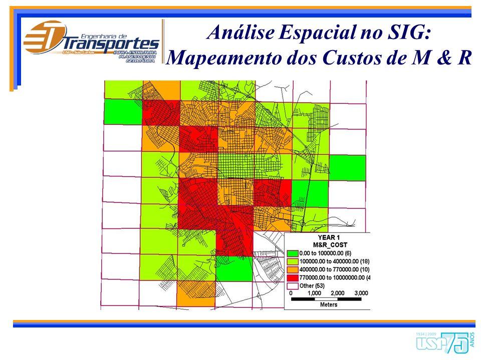 Análise Espacial no SIG: Detalhe dos Custos de M & R