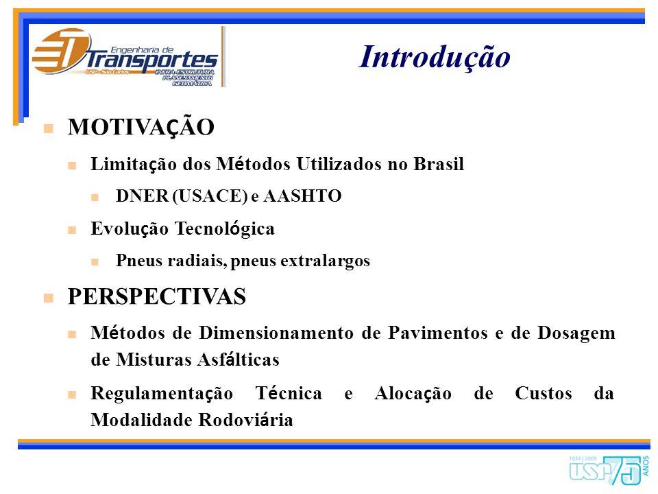 Efeitos das Solicitações de Veículos Rodoviários de Carga sobre o Desempenho de Pavimentos Rodoviários Brasileiros Prof. Dr. José Leomar Fernandes Jún