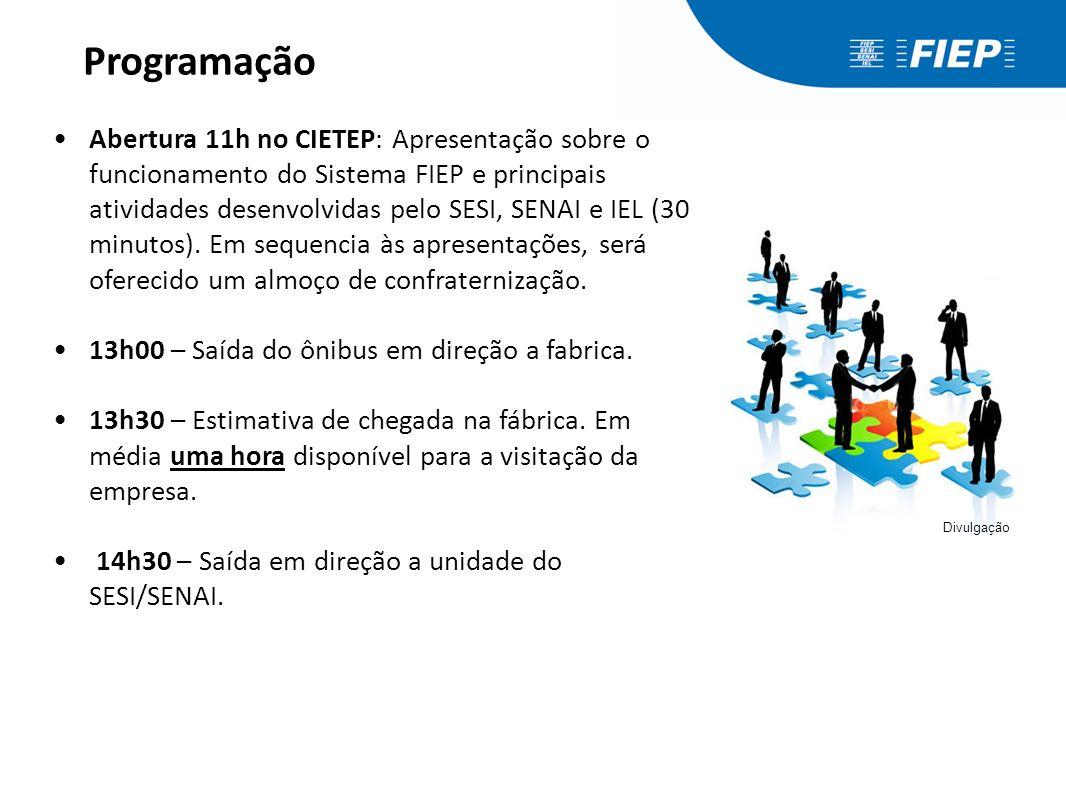 Programação Abertura 11h no CIETEP: Apresentação sobre o funcionamento do Sistema FIEP e principais atividades desenvolvidas pelo SESI, SENAI e IEL (3