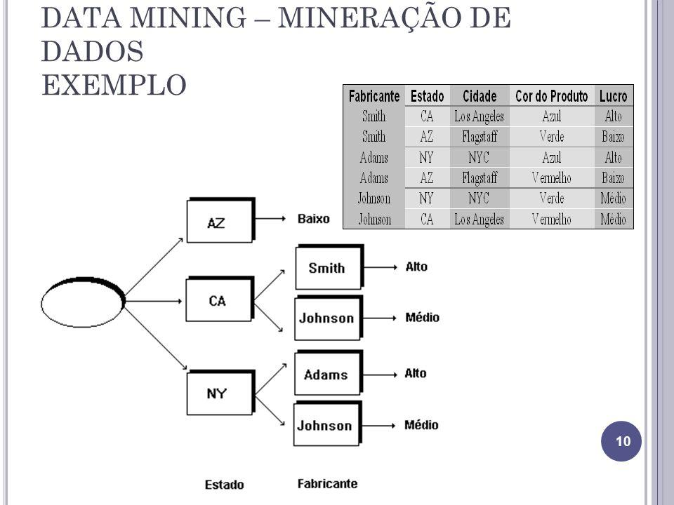 DATA MINING – MINERAÇÃO DE DADOS EXEMPLO 10