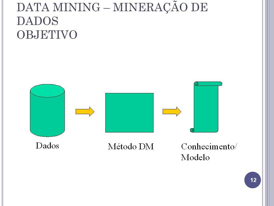 DATA MINING – MINERAÇÃO DE DADOS OBJETIVO 12