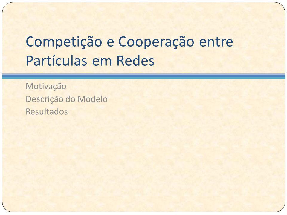 Competição e Cooperação entre Partículas em Redes Motivação Descrição do Modelo Resultados