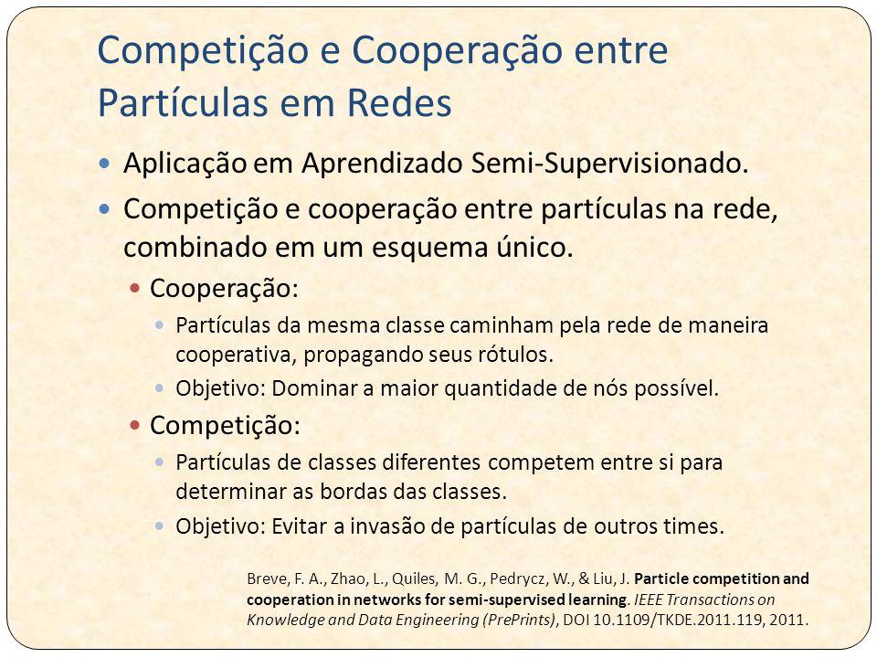 Competição e Cooperação entre Partículas em Redes Aplicação em Aprendizado Semi-Supervisionado. Competição e cooperação entre partículas na rede, comb