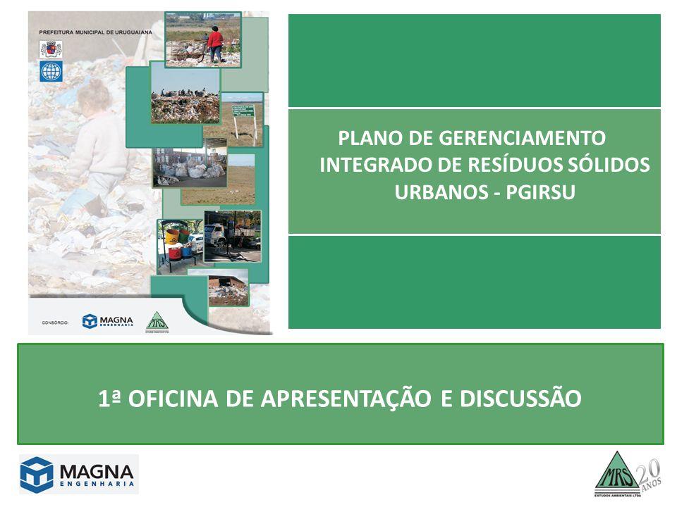 PLANO DE GERENCIAMENTO INTEGRADO DE RESÍDUOS SÓLIDOS URBANOS - PGIRSU 1ª OFICINA DE APRESENTAÇÃO E DISCUSSÃO