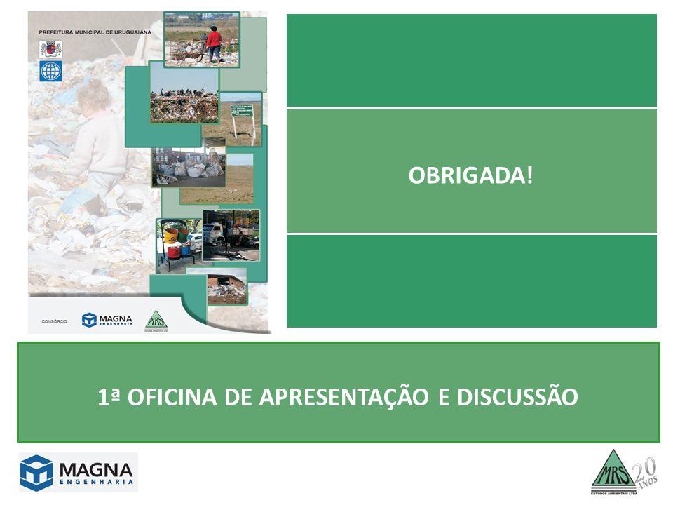 OBRIGADA! 1ª OFICINA DE APRESENTAÇÃO E DISCUSSÃO