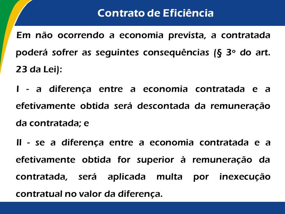 Contrato de Eficiência Nesse tipo de contrato, os licitantes apresentarão (art. 37 do Decreto): I - proposta de trabalho, que deverá contemplar: a) as