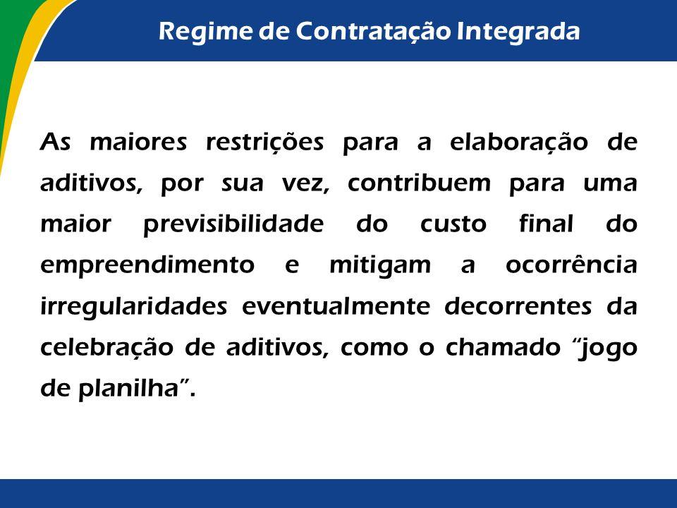 Regime de Contratação Integrada Veja-se que, consoante o disposto no inciso XV do art. 18 da Lei nº 8.987/95, nos casos de concessão de serviços públi