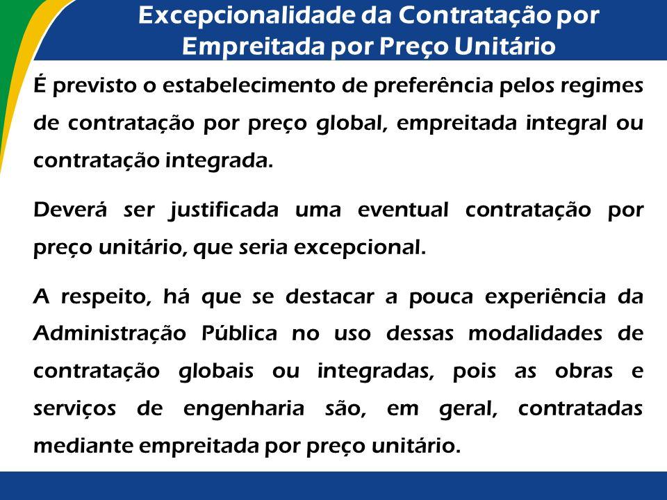 Regime de Contratação Integrada O Decreto nº 2.745/1998, o qual aprova o Regulamento do Procedimento Licitatório Simplificado da Petróleo Brasileiro S