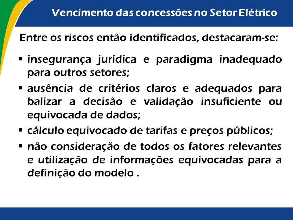 as concessões do setor elétrico outorgadas até 1995 não precedidas por licitação foram prorrogadas com base na Lei nº 9.074/1995, e deveriam vencer a