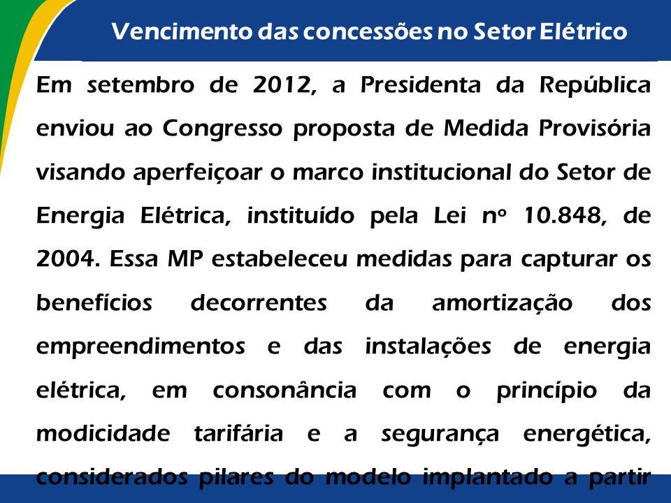 Acórdãos nº 3.012/2011 e nº1.042/2012-Plenário: fixar prazo para que o Ministério de Minas e Energia (MME) elabore plano de ação para a definição do m