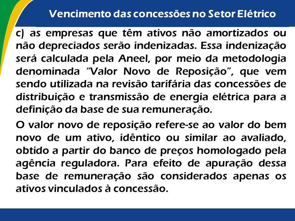 b) Para obter a prorrogação da concessão, o concessionário: - de transmissão de energia elétrica deverá se submeter à remuneração por receita calculad