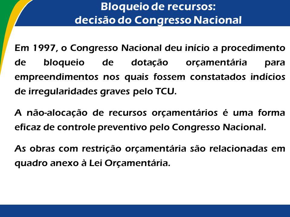 Vantagens da Sistemática Adotada O acompanhamento das obras, tal qual previsto nas últimas LDO, apresenta as seguintes vantagens: desenvolvimento de m