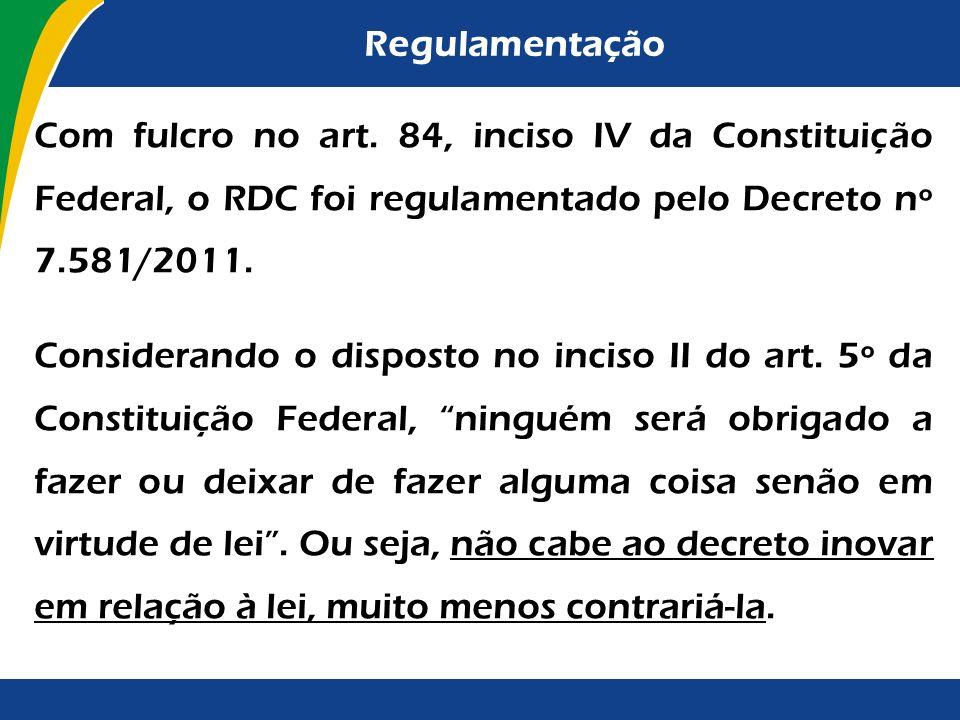 Objeto do Regime Especial c) necessários à realização de obras de infraestrutura e de contratação de serviços para os aeroportos das capitais dos Esta