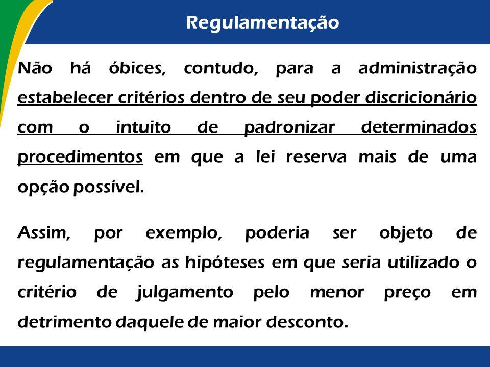 Regulamentação Com fulcro no art. 84, inciso IV da Constituição Federal, o RDC foi regulamentado pelo Decreto nº 7.581/2011. Considerando o disposto n