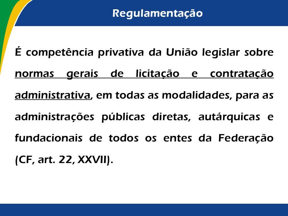 Regulamentação Voto condutor da Decisão TCU 141/2001-Plenário: Se é possível ao administrador fixar esses critérios em edital, com mais razão pode o P