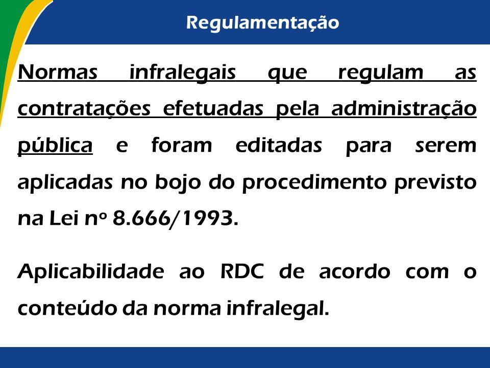 Regulamentação Pelo fato de a competência da União se limitar à edição de normas gerais, a regulamentação da lei efetuada mediante o Decreto nº 7.581/