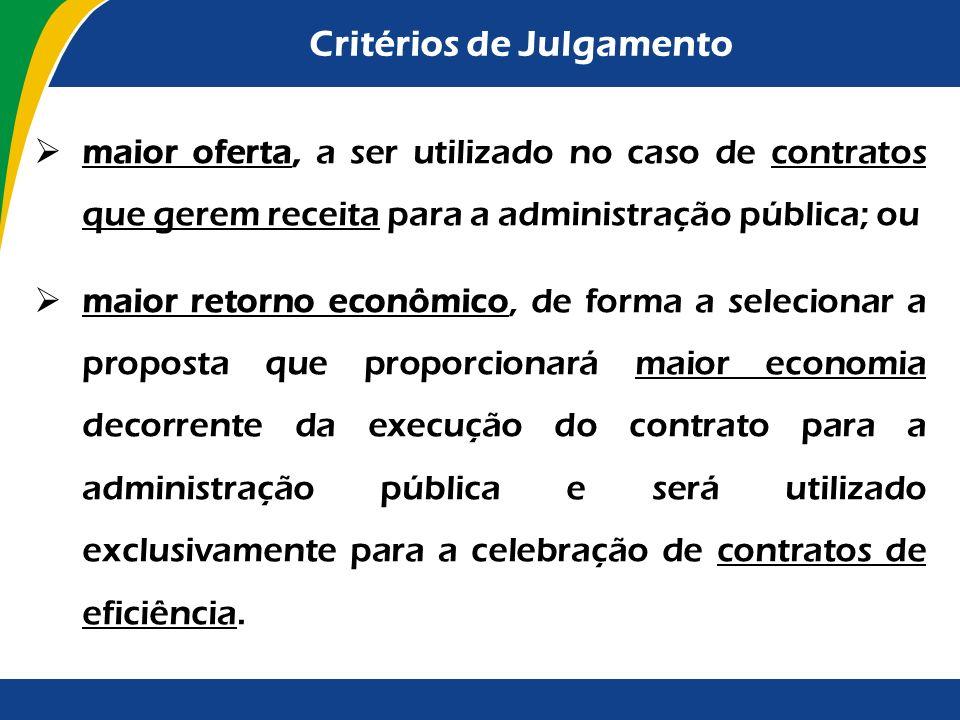 Critérios de Julgamento melhor técnica ou conteúdo artístico, quando, fixado o orçamento por parte da Administração, serão consideradas exclusivamente