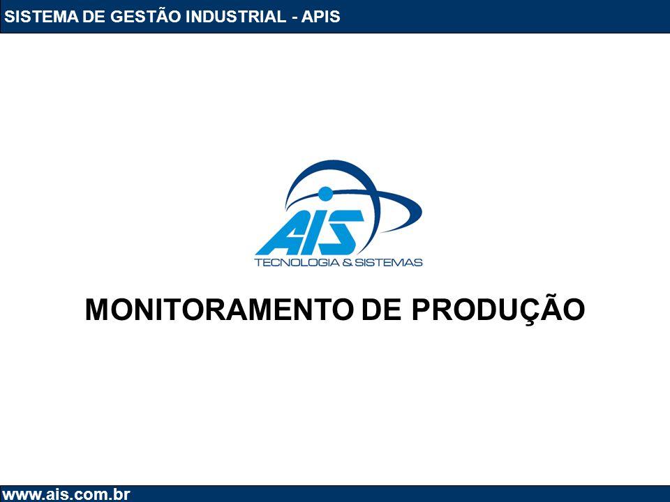 SISTEMA DE GESTÃO INDUSTRIAL - APIS www.ais.com.br MONITORAMENTO DE PRODUÇÃO